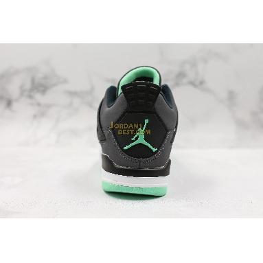 "fake Air Jordan 4 Retro ""Green Glow"" 308497-033 Mens Womens drk grey/grn glw-cmnt grey-blk Shoes"