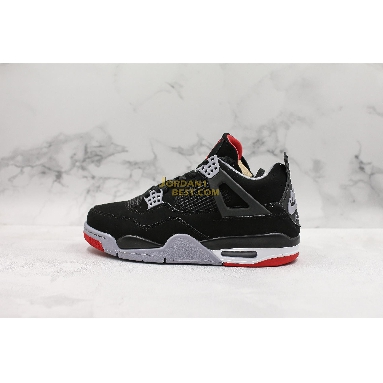 "top 3 fake 2019 Air Jordan 4 Retro OG ""Bred"" 308497-060 Mens black/cement grey-summit white-fire red Shoes"