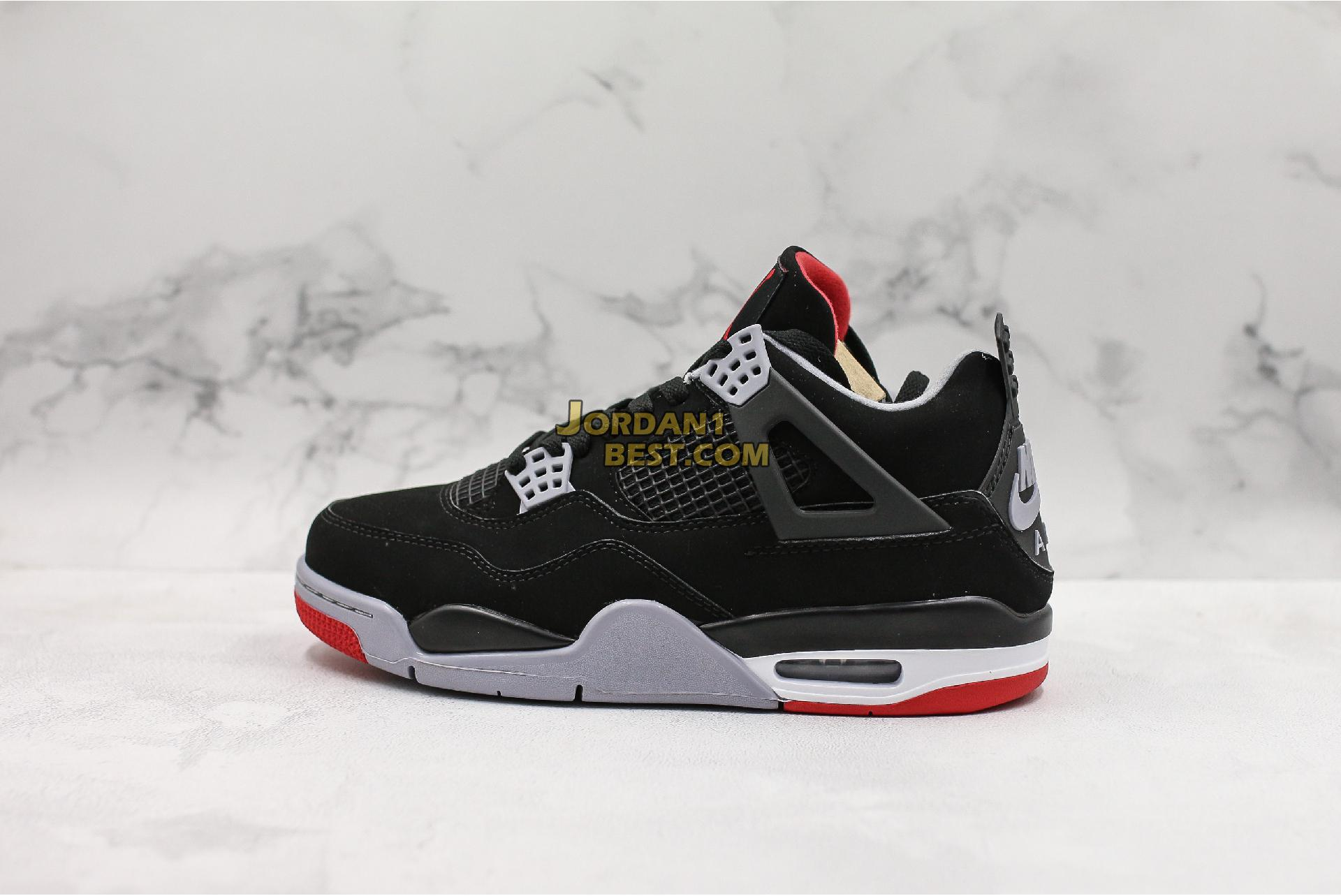 "2019 Air Jordan 4 Retro OG ""Bred"" 308497-060 Mens"