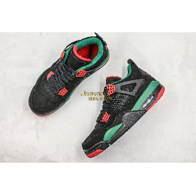 "top 3 fake Air Jordan 4 Retro NRG ""Do The Right Thing"" AQ3816-063 Mens black/gorge green-varsity red Shoes"
