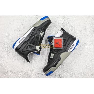 "fake Air Jordan 4 Retro ""Motorsports Alternate"" 308497-006 Mens black/game royal-matte silver Shoes"