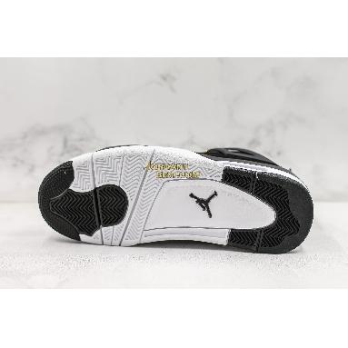 "best replicas Air Jordan 4 Retro ""Royalty"" 308497-032 Mens black/metallic gold-white Shoes"