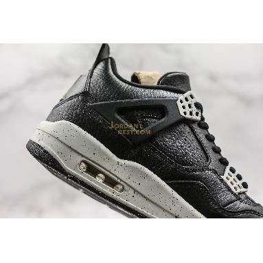 "new replicas Air Jordan 4 Retro LS ""Oreo"" 314254-003 Mens black/tech grey-black Shoes"