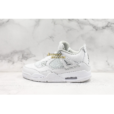 "top 3 fake Air Jordan 4 Retro ""Pure Money"" 308497-100 Mens white/metallic silver-pure platinum Shoes"
