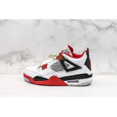 "top 3 fake Air Jordan 4 Retro ""Fire Red"" 2012 308497-110 Mens white/varsity red-black Shoes"