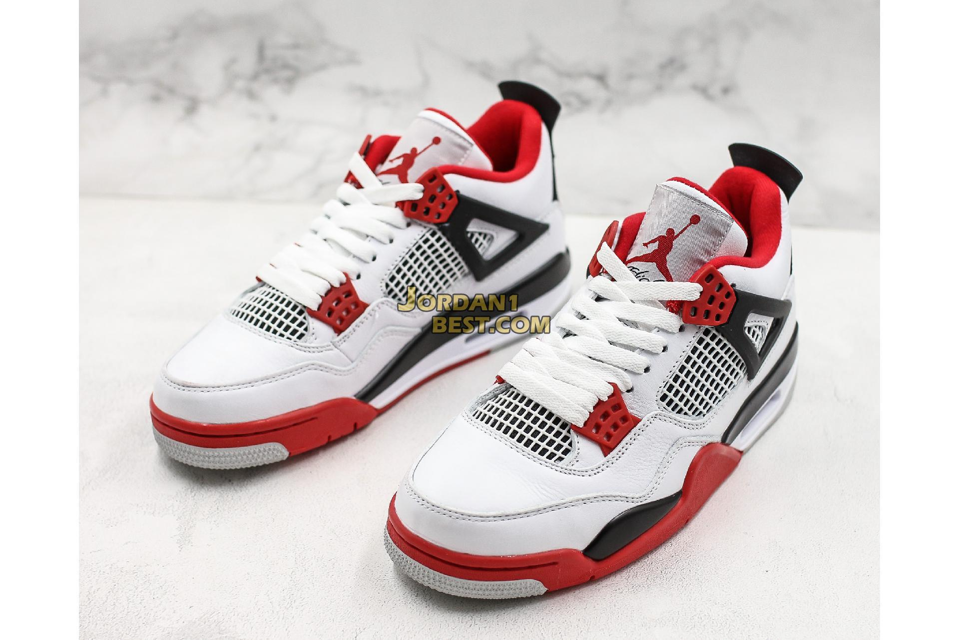 "Air Jordan 4 Retro ""Fire Red"" 2012 308497-110 Mens"