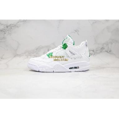 "best replicas Air Jordan 4 Retro ""Green Metallic"" CT8527-113 Mens white/pine green-metallic silver Shoes"