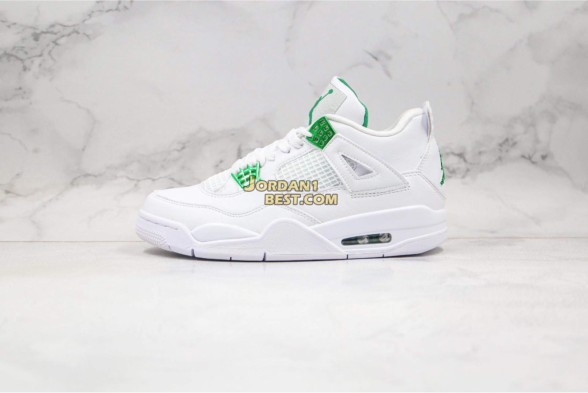 """Air Jordan 4 Retro """"Green Metallic"""" CT8527-113 Mens"""