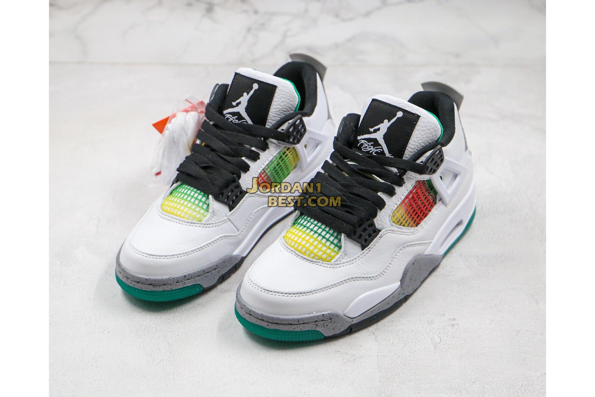 """Air Jordan 4 Retro """"Rasta"""" AQ9129-100 Mens"""