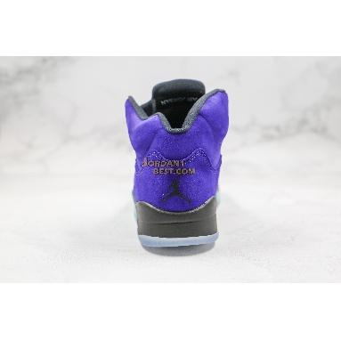 "AAA Quality Air Jordan 5 Retro ""Alternate Grape"" 136027-500 Mens Womens grape ice/black-clear-new emerald Shoes"
