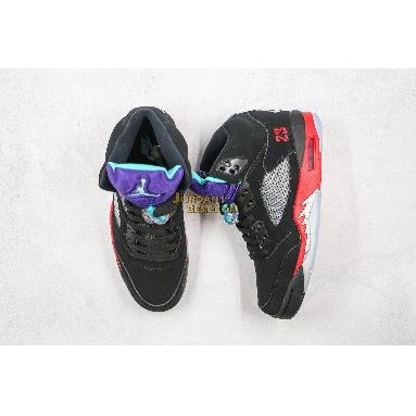 "new replicas Air Jordan 5 Retro ""Top 3"" CZ1786-001 Mens Womens black/new emerald-fire red Shoes"