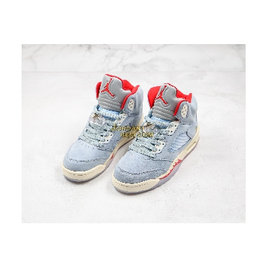 "AAA Quality Trophy Room x Air Jordan 5 Retro ""Ice Blue"" CI1899-400 Mens Womens ice blue/sail-metallic gold-university red Shoes"