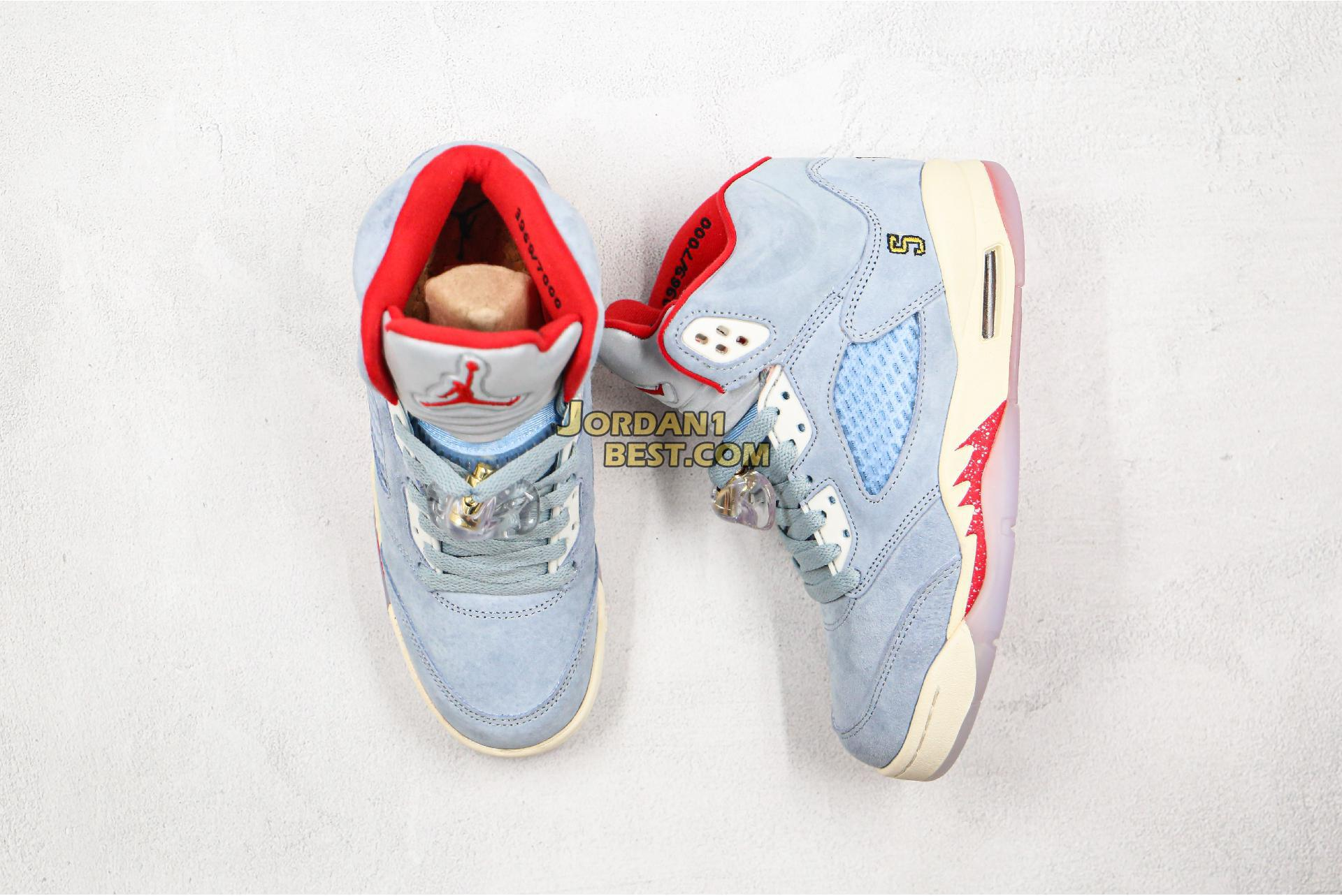 "Trophy Room x Air Jordan 5 Retro ""Ice Blue"" CI1899-400 Mens Womens"