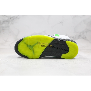"best replicas Trophy Room x Air Jordan 5 Retro ""Ice Blue"" 467827-105 Mens Womens white/black-metallic silver-radiant green Shoes"