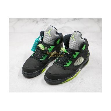 "fake Air Jordan 5 ""Quai 54"" 255054-511 Mens Womens black/green Shoes"