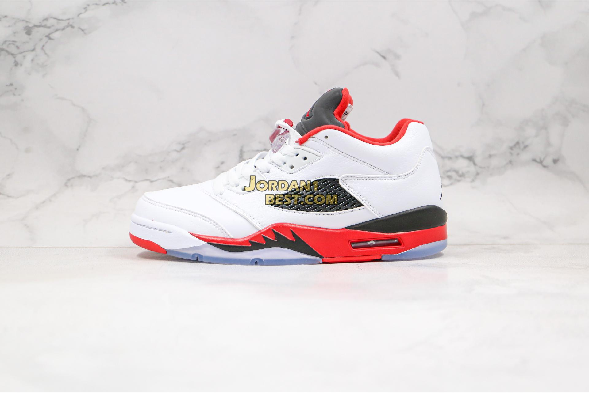 "Air Jordan 5 Retro Low GS ""Fire Red"" 314338-101 Mens"