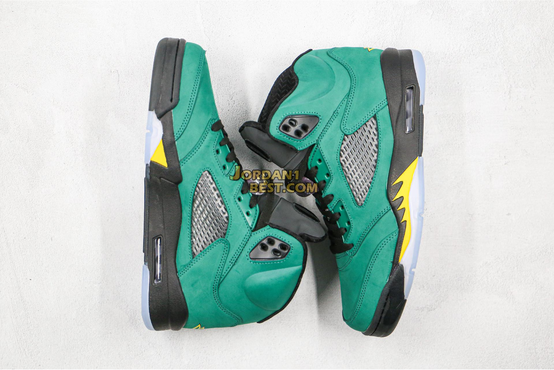 "Air Jordan 5 Retro ""Oregon Ducks"" 454803-535 Mens Womens"