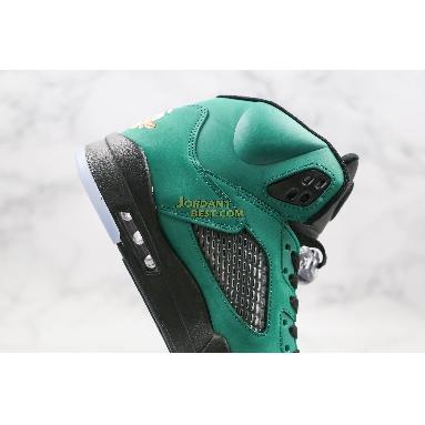 "AAA Quality Air Jordan 5 Retro ""Oregon Ducks"" 454803-535 Mens Womens black/apple green-yellow strike Shoes"