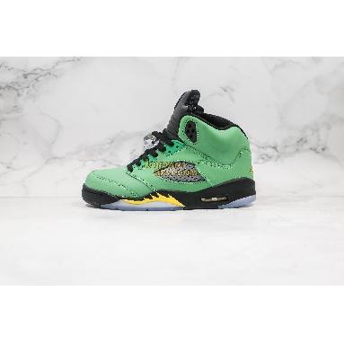 "AAA Quality 2020 Air Jordan 5 Retro Low ""Alternate 90"" CK6631-307 Mens Womens apple green/black-yellow strike-black Shoes"