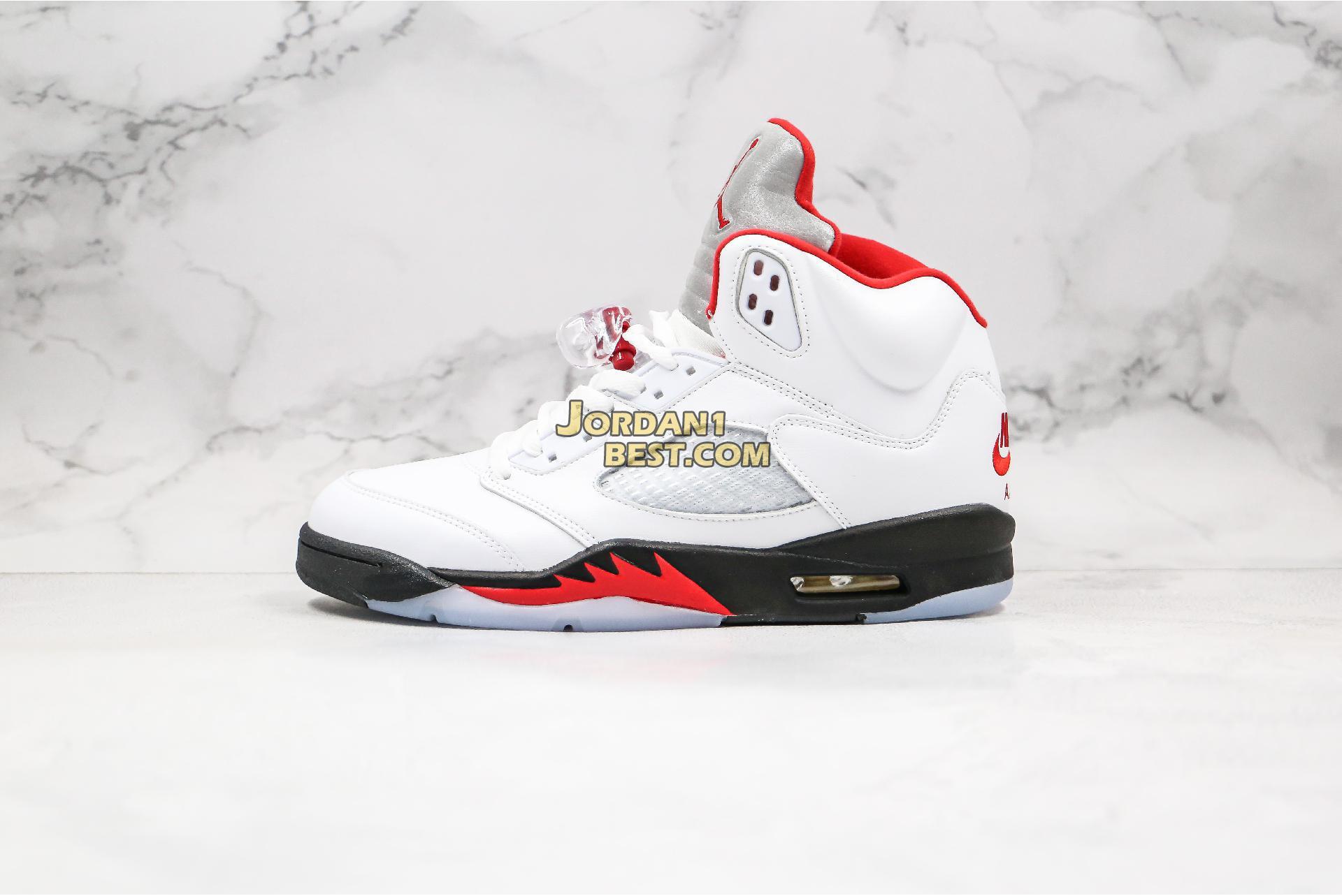 "2020 Air Jordan 5 Retro ""Fire Red"" DA1911-102 Mens Womens"