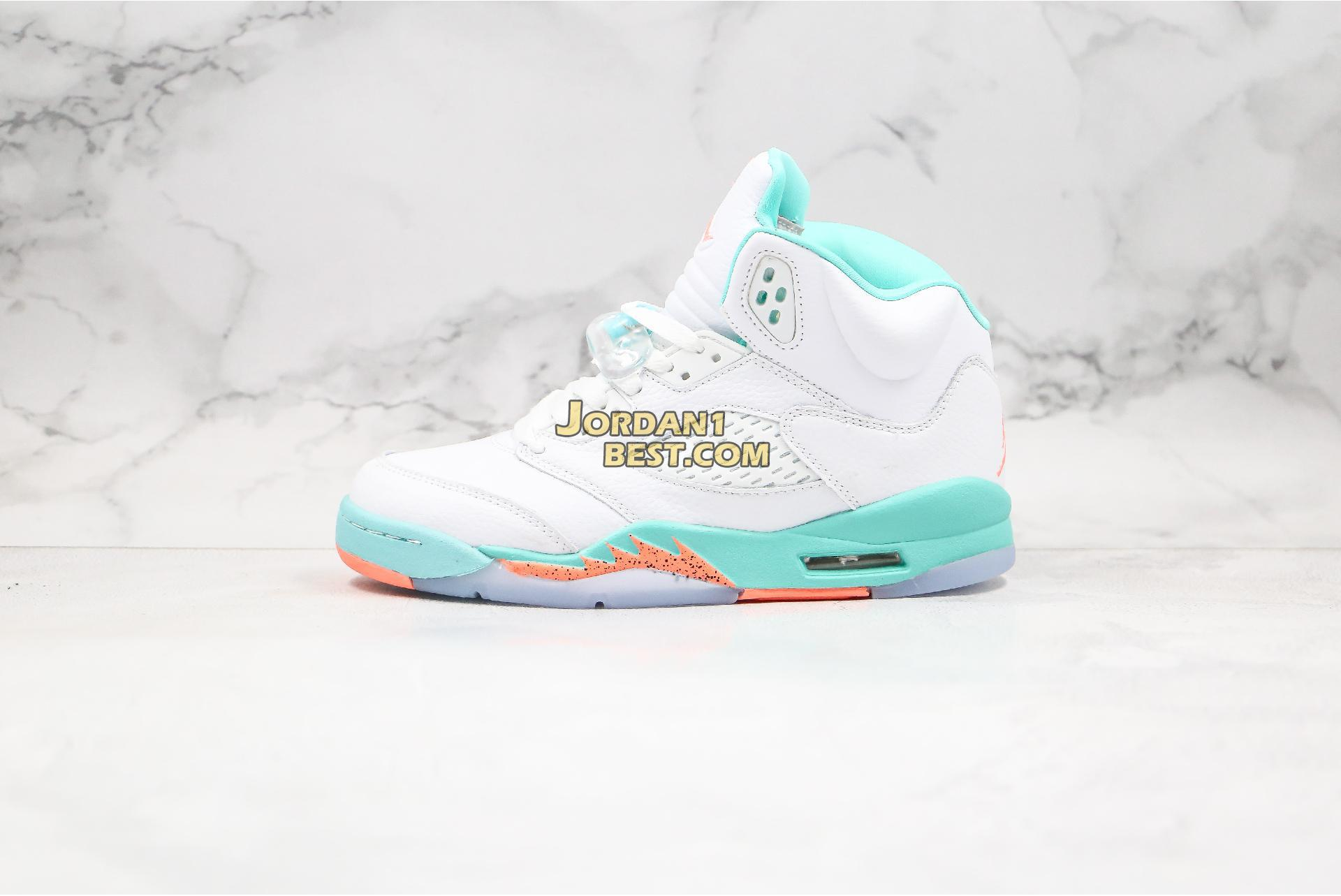 "Air Jordan 5 Retro GS ""Light Aqua"" 440892-100 Mens Womens"