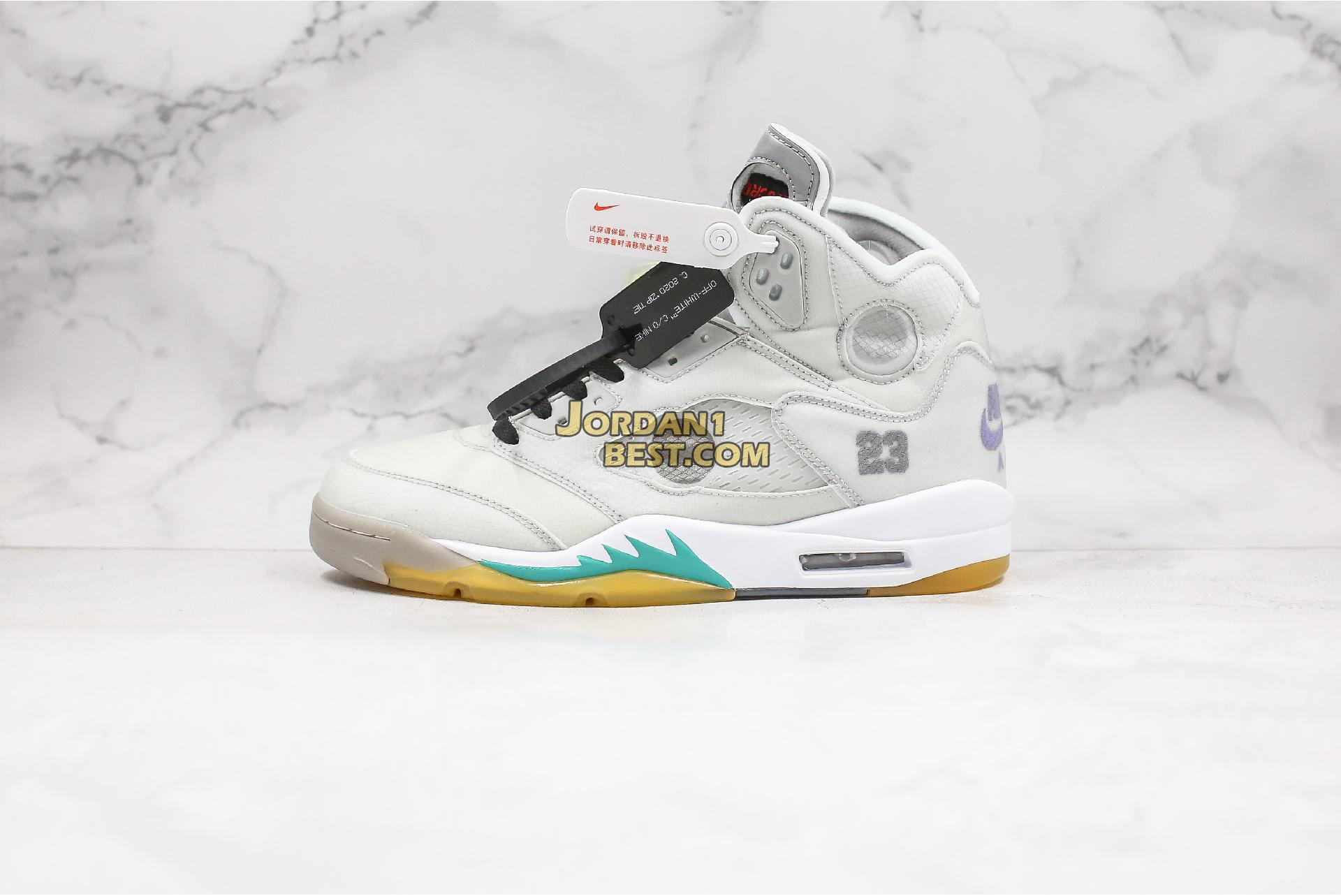 "Off-White x Air Jordan 5 ""Cicada Wing"" CT8480-105 Mens"