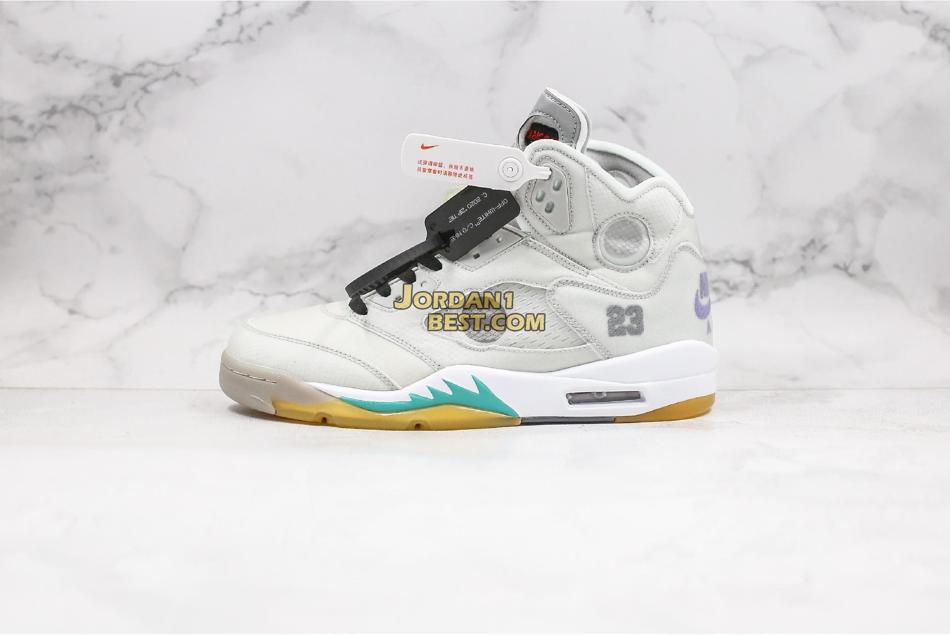"Off-White x Air Jordan 5 ""Cicada Wing"" CT8480-105 Mens"