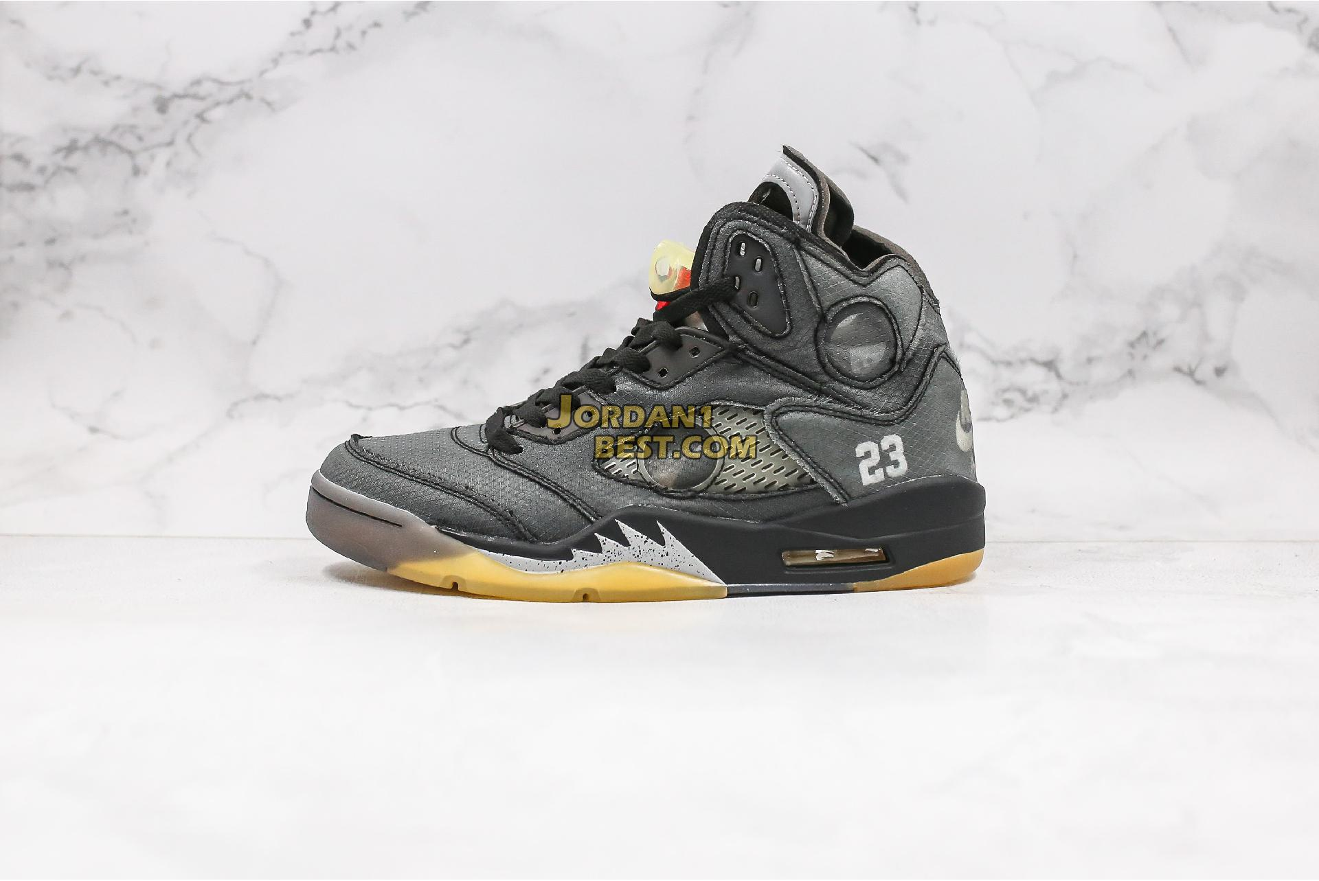 "OFF-WHITE x Air Jordan 5 Retro SP ""Muslin"" CT8480-001 Mens"