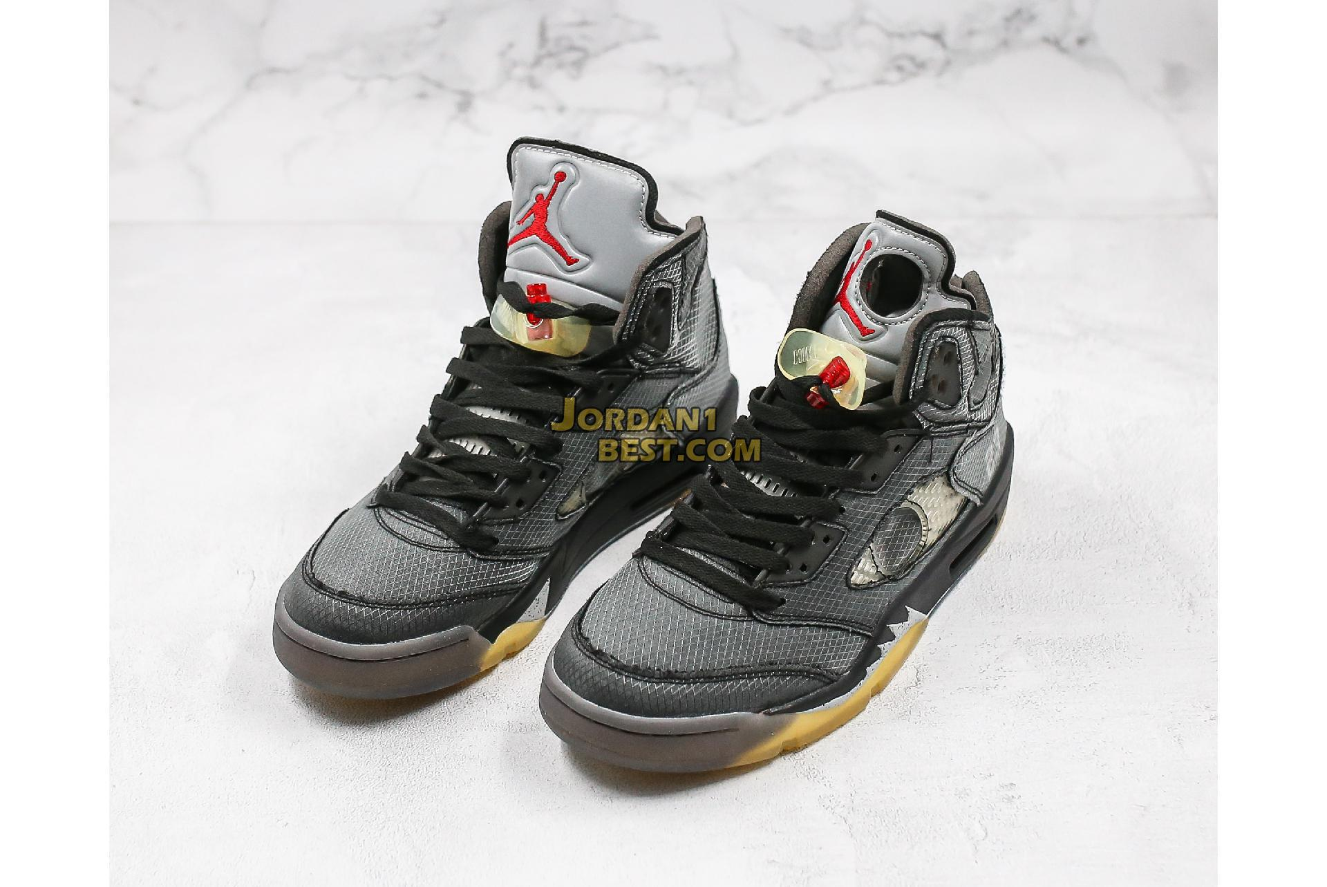 "OFF-WHITE x Air Jordan 5 Retro SP ""Muslin"" CT8480-001 Mens"