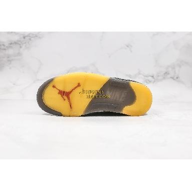 "new replicas OFF-WHITE x Air Jordan 5 Retro SP ""Muslin"" CT8480-001 Mens black/fire red/muslin Shoes"