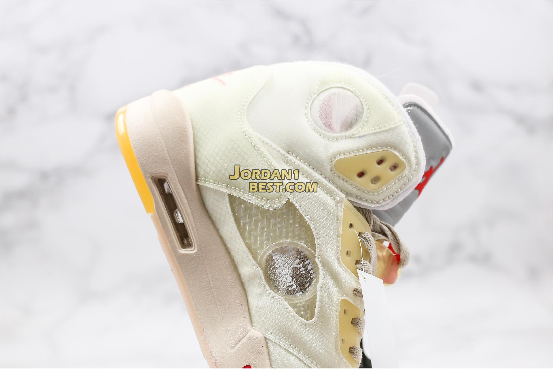 "OFF-WHITE x Air Jordan 5 SP ""Plot Twist"" CT8480-100 Mens"