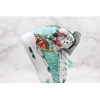 "top 3 fake Air Jordan 5 Retro ""Wings"" AV2405-900 Mens green/white/grey/multi-color Shoes"