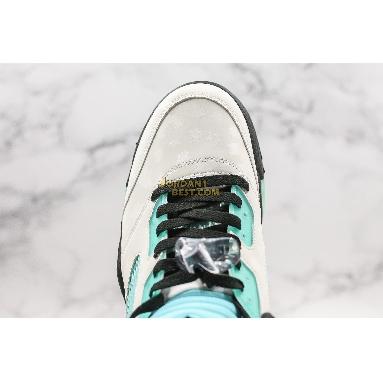 "AAA Quality Air Jordan 5 Retro ""Island Green"" CN2932-100 Mens Womens white/black/white/island green Shoes"
