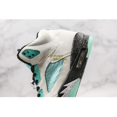 "AAA Quality Air Jordan 5 Retro ""Island Green"" CN2932-100 Mens Womens white/black/white/island green Shoes"
