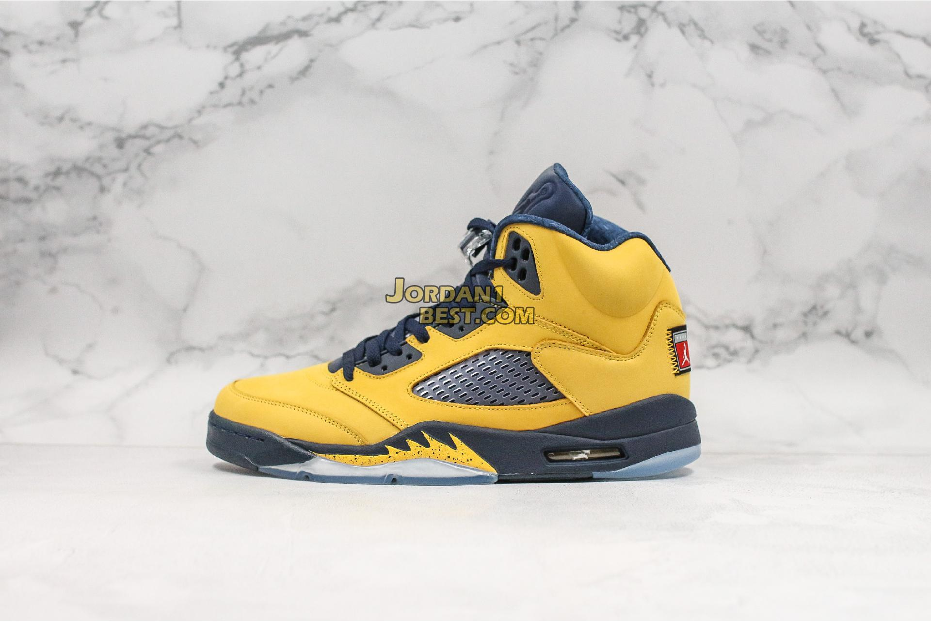 "Air Jordan 5 Retro SP ""Michigan"" CQ9541-704 Mens Womens"