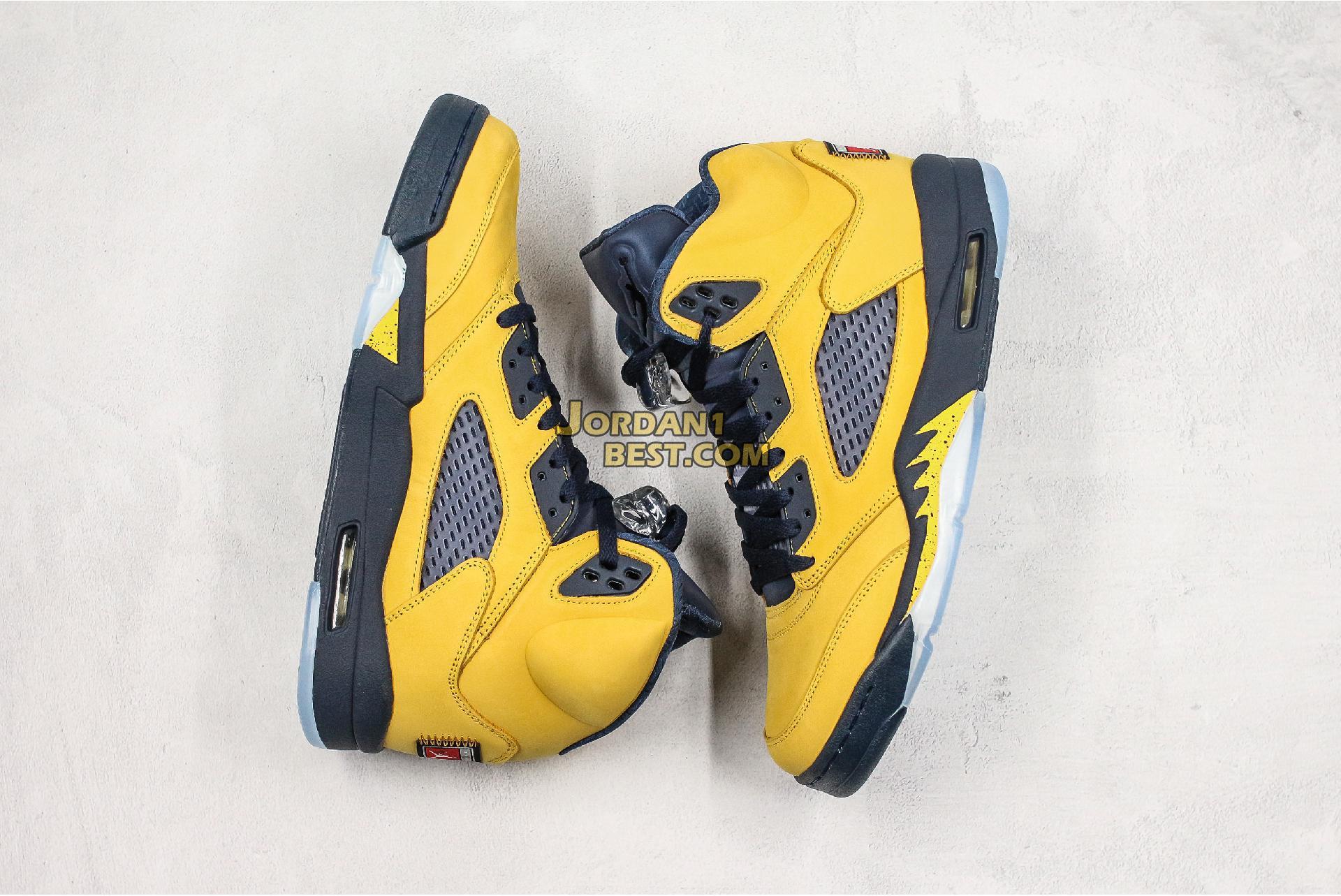 "Air Jordan 5 Retro SP ""Michigan"" CQ9541-704 Mens Womens"