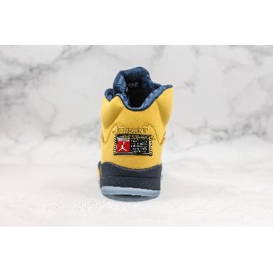 "fake Air Jordan 5 Retro SP ""Michigan"" CQ9541-704 Mens Womens amarillo/college navy-amarillo Shoes"
