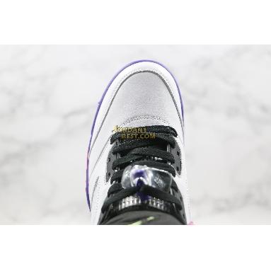 "top 3 fake Air Jordan 5 Retro ""Alternate Bel-Air"" DB3335-100 Mens white/court purple-racer pink-ghost green Shoes"