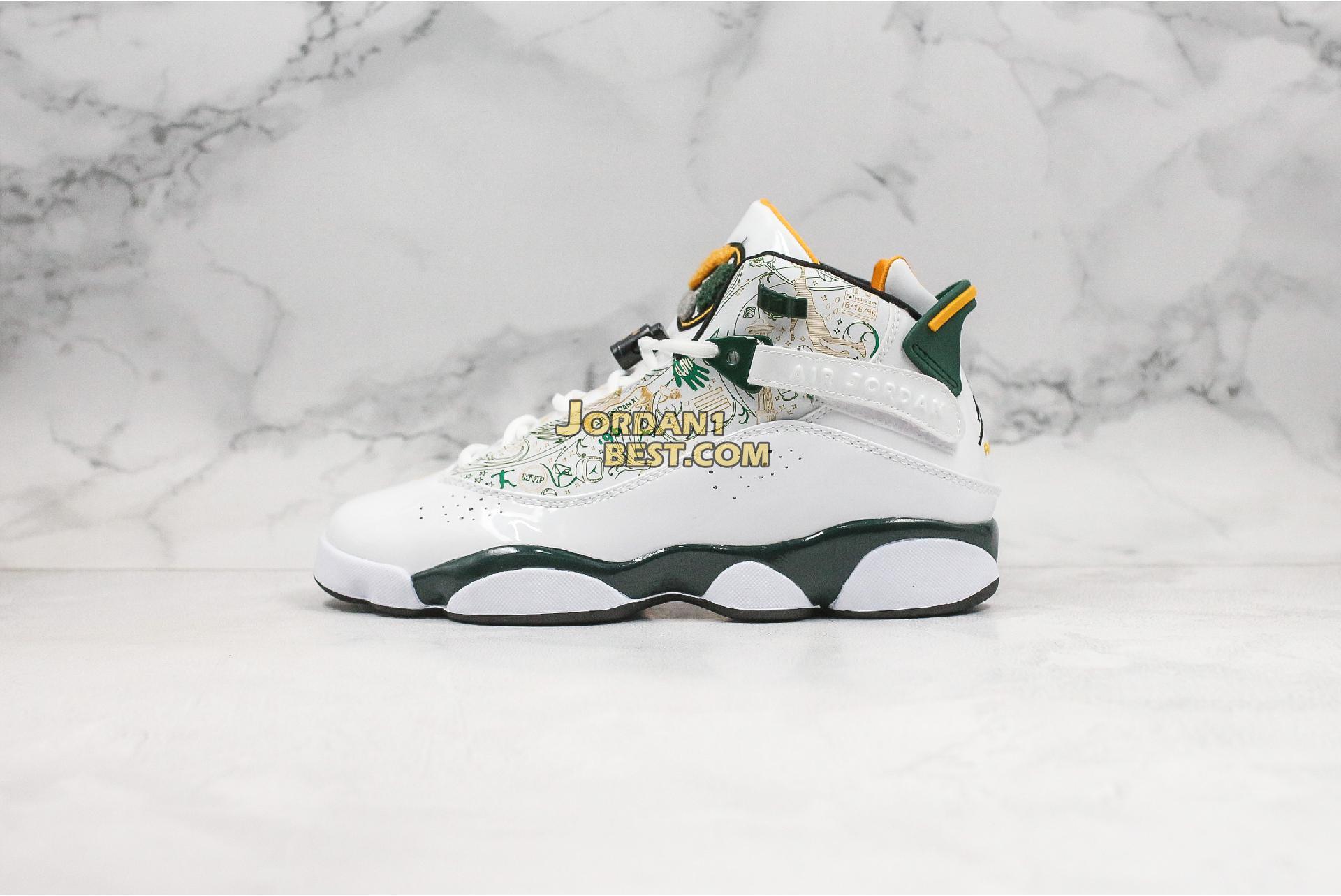 "Air Jordan 6 Rings ""Seattle"" 322992-102 Mens Womens"