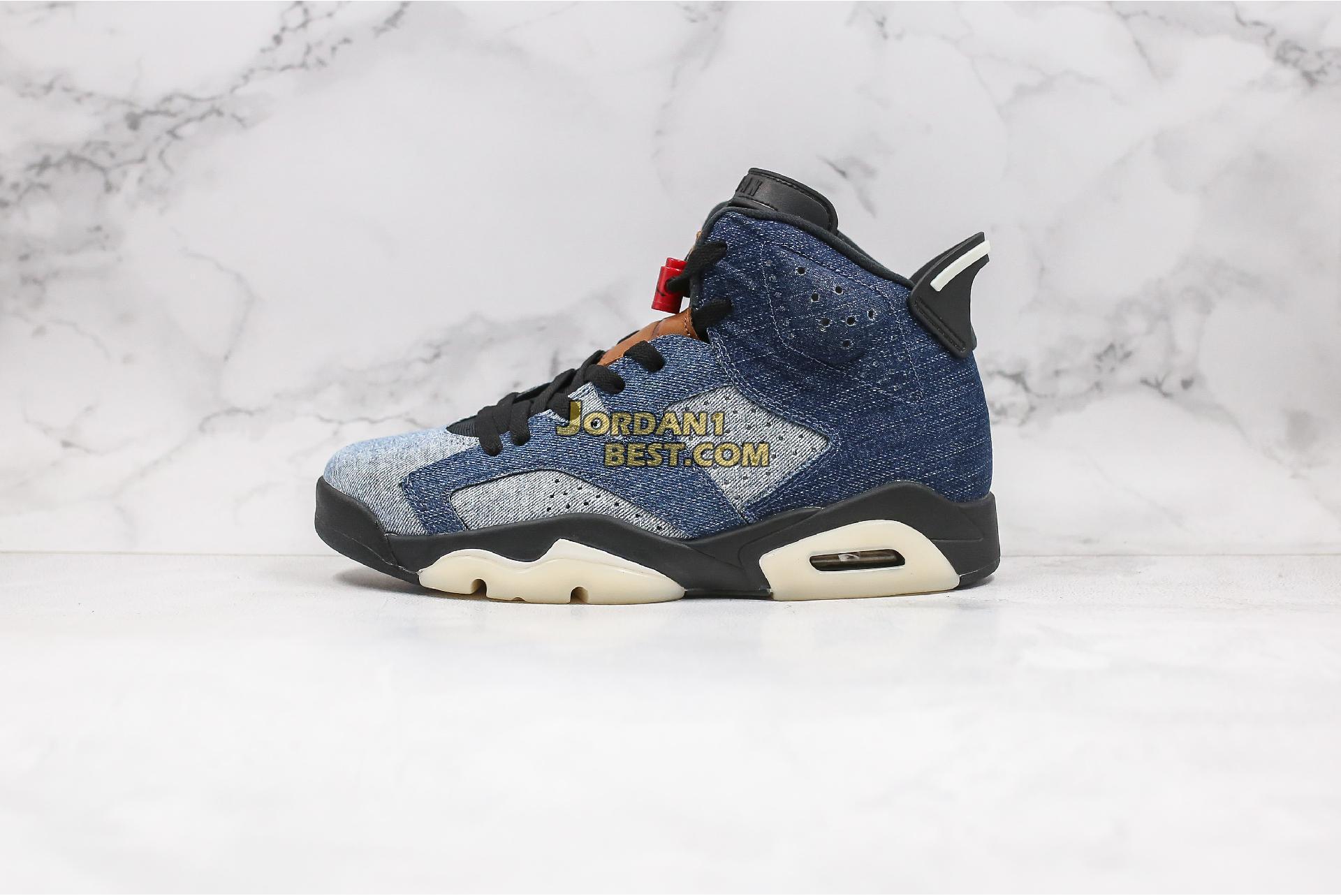 """Air Jordan 6 Retro """"Washed Denim"""" CT5350-401 Mens"""