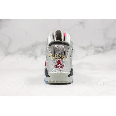 "best replicas Air Jordan 6 Retro GG ""Valentines Day"" 543390-009 Womens metallic silver/vivid pink-black Shoes"