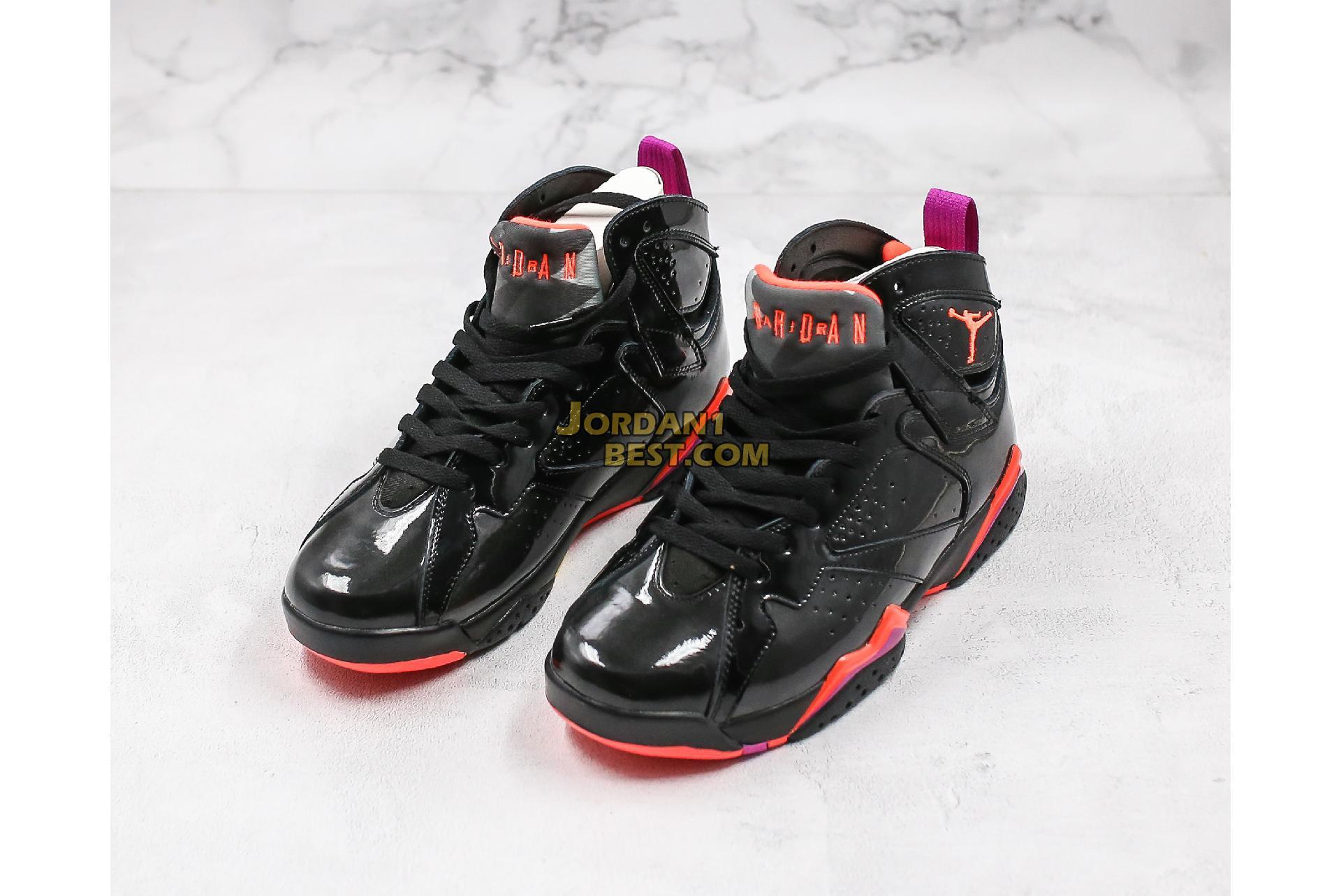 """Air Jordan 7 Retro """"Black Gloss"""" 313358-006 Mens"""
