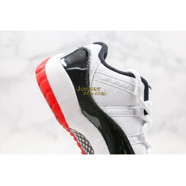 "fake Air Jordan 11 Retro Low ""Concord-Bred"" AV2187-160 Mens white/university red-black-true red Shoes"