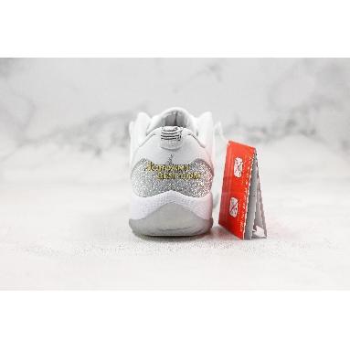 "new replicas Air Jordan 11 ""Metallic Silver"" AH0715-100 Womens white/metallic silver-metallic silver Shoes"