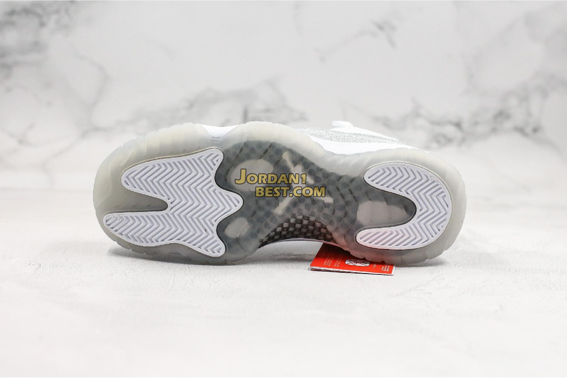 """Air Jordan 11 """"Metallic Silver"""" AH0715-100 Womens"""