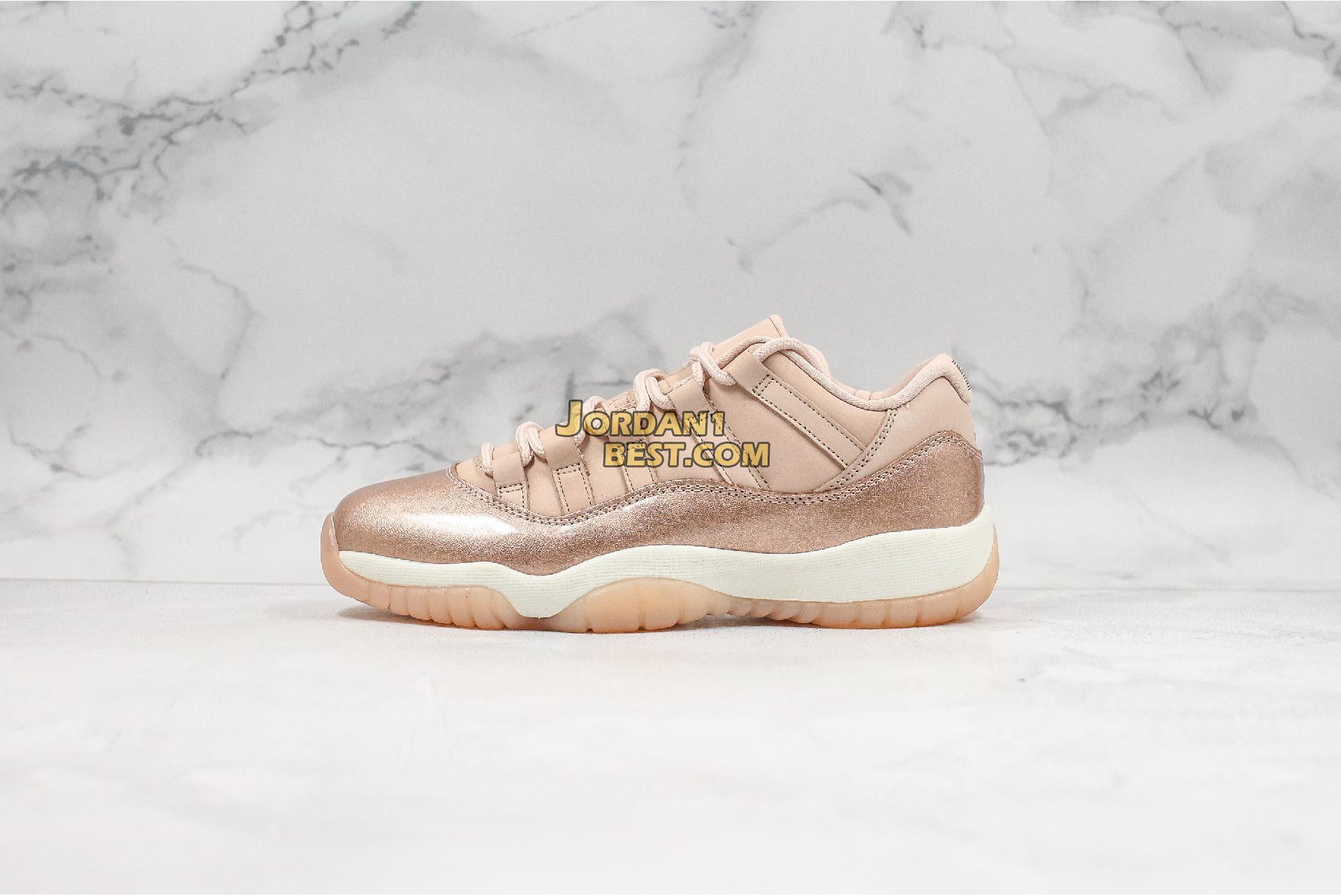 """Air Jordan 11 Low """"Rose Gold"""" AH7860-105 Womens"""