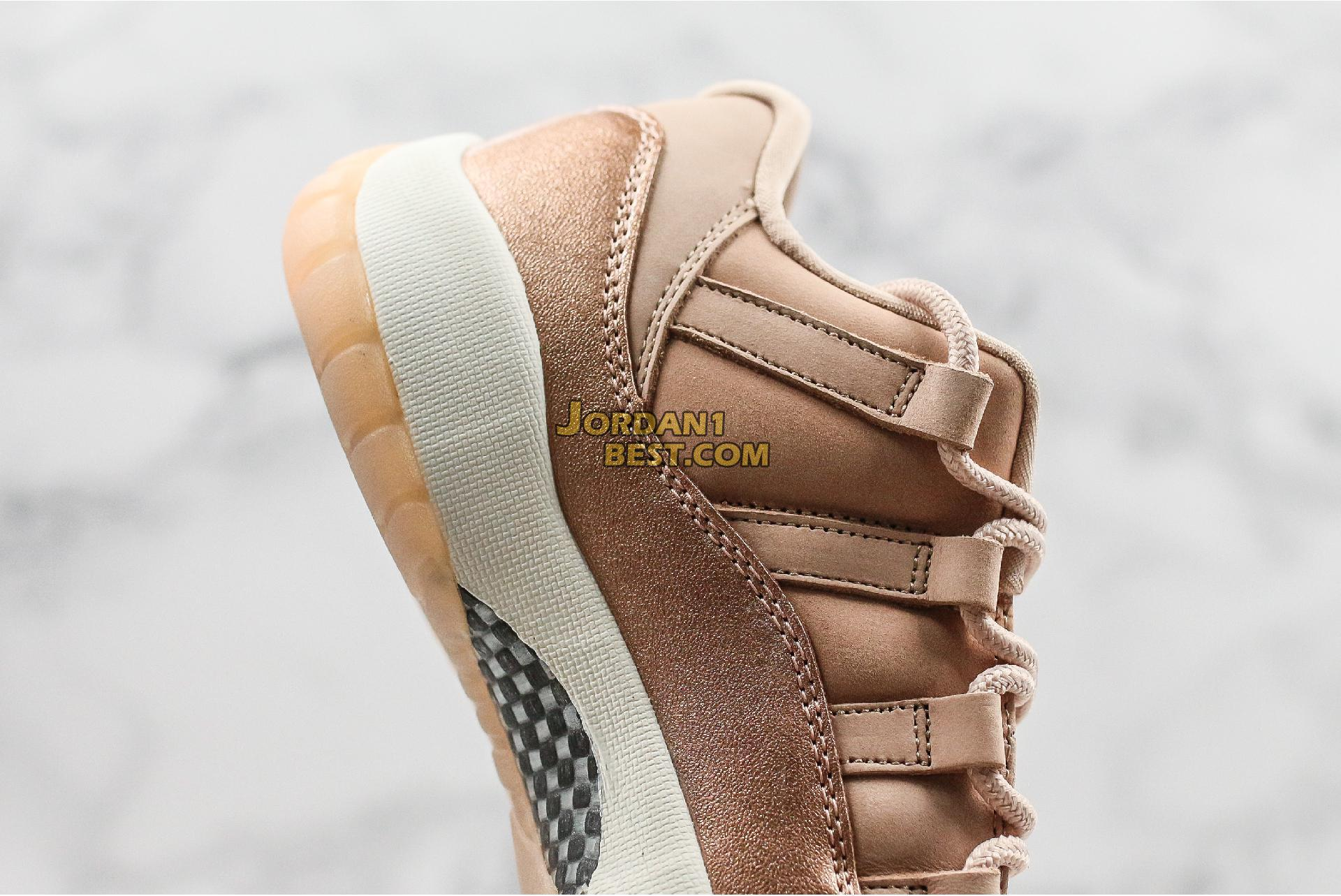 "Air Jordan 11 Low ""Rose Gold"" AH7860-105 Womens"
