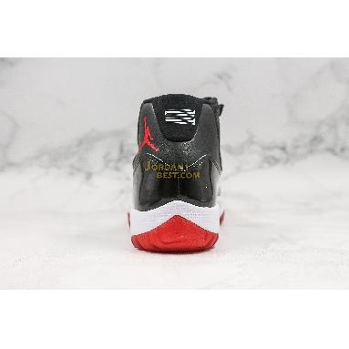"new replicas 2019 Air Jordan 11 Retro ""Bred"" 378037-061 Mens black/white/varsity red Shoes"