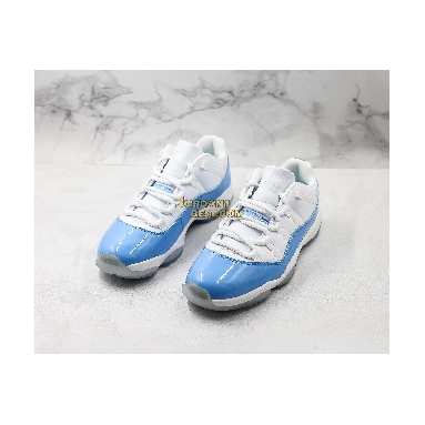 "best replicas Air Jordan 11 Retro Low ""UNC"" 528895-106 Mens white/university blue Shoes"
