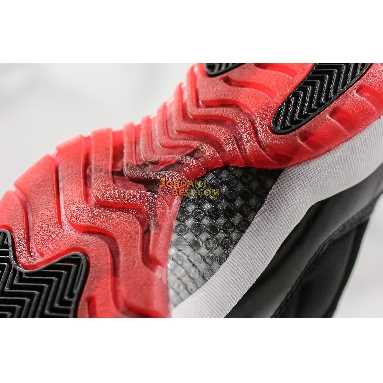 "new replicas Air Jordan 11 Retro Low ""Bred"" 528895-012 Mens black/true red-white Shoes"